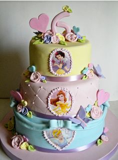 disney princess cake- please let emme want this!