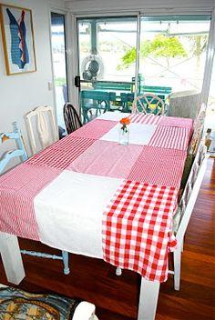 Dish Cloth Table Cloth Tutorial