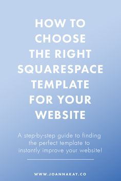 Squarespace templates are amazing!Only trouble is, there are so many to…