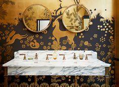 De Gournay's Rateau wallpaper installation