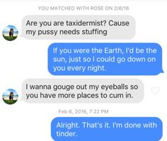 12 WTF Tinder Messages That'd Make You Unmatch In A Heartbeat - CollegeHumor Post
