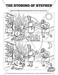 Acts 7 The Stoning of Stephen Sunday School Crossword