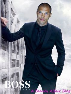 """....and Jeremy Meeks (the felon) with his face superimposed on a Hugo Boss suit! Sad! The boy had sooo much potential. Now he's gonna be somw dude's """"wife""""."""