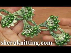 Beaded Crochet Lace Tape Tutorial 26 Part 1 of 2 Crochet Chart, Love Crochet, Bead Crochet, Irish Crochet, Crochet Motif, Crochet Lace, Beaded Lace, Crochet Flower Tutorial, Crochet Flower Patterns
