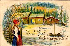 Kuva albumissa Tycho Ödberg - Google Kuvat Old Ones, Vintage Holiday, Christmas Cards, Photo And Video, Painting, Google, Art, Ideas, Xmas Greeting Cards