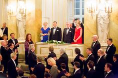 Belgium's Queen Mathilde,  the first lady of Poland Agata Kornhauser-Duda, Belgium's King Philippe  and Polish president Andrzej Duda.