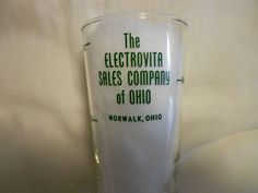Elsaco Mineralized Water - Electrovita Sales Co. Norwalk, Ohio - Measuring Glass #ElsacoMineralizedWater