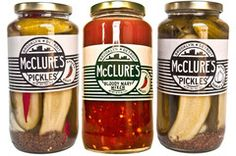 McClure's Pickles from Detroit, MI. Support your local businesses! Also, best bloody mary mix on the face of the earth.