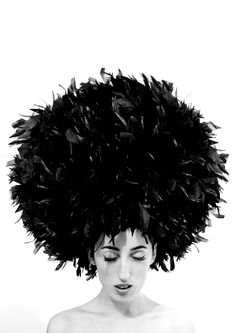 Rossy de Palma by Manuel Outumuro..... Reminds me of an Afro I love it ...if I could, I would have the biggest afro possible