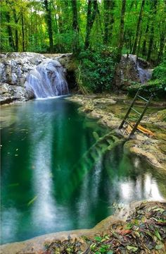 NOT starved rock state park, illinois. - after much internet sleuthing, I believe this is in Baume-les-Messieurs, France. Oh The Places You'll Go, Places To Travel, Places To Visit, Places Open, Travel Destinations, Starved Rock State Park, Adventure Is Out There, Vacation Spots, Vacation Travel