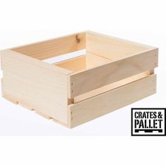 Crates and Pallet Small Wood Crate - Walmart.com