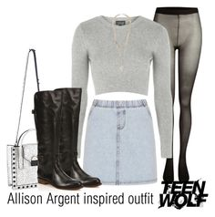 Allison Argent inspired outfit/TW by tvdsarahmichele on Polyvore featuring Topshop, SELECTED, Frye, Loeffler Randall and Givenchy