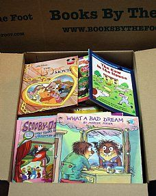 Boxed Children's Books: Kindergarten - Grade 2 - Books by the Foot 29.99 for a box of about 150 books. General box costs only 12.99!
