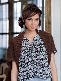 Free Pattern - This versatile layer is a great accent piece #knit #shrug thanks so xox