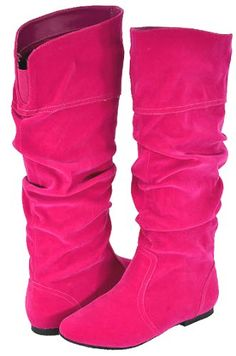 $36.99 Qupid Neo-144 Fuchsia Velvet Women Casual Boots  From Qupid   Get it here: http://astore.amazon.com/ffiilliipp-20/detail/B009UJ2D8E/186-0979948-5990564