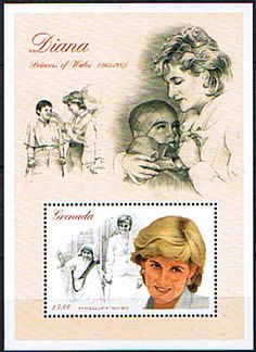 Grenada 1997 Diana Princess of Wales Commemoration Miniature Sheet Fine Mint SG 3503 Scott 2724 Other West Indies and British Commonwealth Stamps HERE!