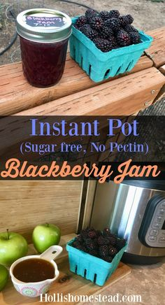 brombeeren rezepte Instant Pot Blackberry Jam (No Sugar, No Pectin) Instant Pot Pressure Cooker, Pressure Cooker Recipes, Pressure Cooking, Blackberry Jam Recipes, Blackberry Jam No Pectin, Jelly Recipes, Drink Recipes, Jam And Jelly, Instant Pot Dinner Recipes