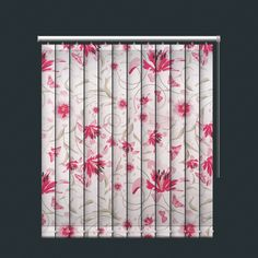 Spring Flowers and Butterfly Design Vertical Blind