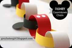 Disney Countdown Chain Tutorial - easy printable template included. Cute.