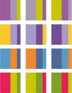Ejemplo de armonías de contraste de colores complementarios