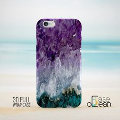 Natural look amethyst stone phone case design in its lovely purple color and mineral stone gradient.  NB! - Not real stone.  High quality glossy color