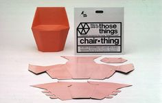Peter Murdoch |  Chair Thing children's chair - made of PVC coated cardboard, the chairs were flat packed and made for easy home assembly