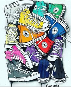 converse, colors, and background image