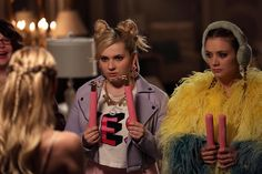 """""""Nunchucks? Well, at least they're pink. #ScreamQueens"""""""