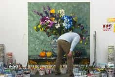 Jan de Vliegher in his studio