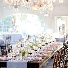 decoracion de mesa rosa y azul