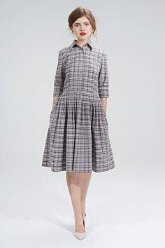 shirtwaist checkered wool dress by mrs pomeranz | notonthehighstreet.com