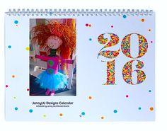 2016 JennyLU Wall Calendar - Original Art by Jenny and Wendi Unrein by JennyLU on Etsy