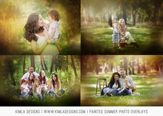 Painted Summer Photo Overlays