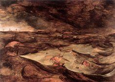 The Storm at Sea.  Pieter Bruegel the Elder.  1568. Oil on panel. 71 x 97 cm. Kunsthistorisches Museum. Vienna.