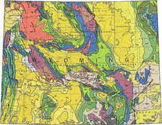 Geologic Maps of the 50 United States: Wyoming Geologic Map