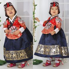 Hanbok Korean traditional suit Dress Tangyi Girl Wedding Korea Women Dolbok 4029