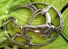 Art Deco sterling impala