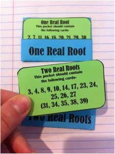 Algebra Activity: Discriminant for Quadratics - using card sorts with notebook pockets & answer cards Algebra Activities, Maths Algebra, Math Teacher, Math Classroom, Classroom Ideas, Math Is Everywhere, In High School, Middle School, School Supplies Organization