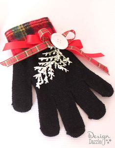 DIY Christmas Glove Ornaments by Toni at Design Dazzle!