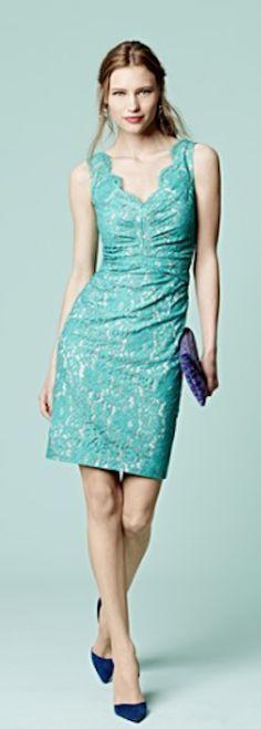 pretty #blue lace dress http://rstyle.me/n/mff2dr9te