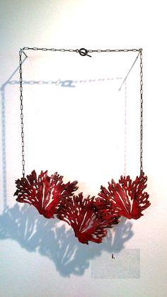 """Niki Stylianou - Necklace. Photo by Eleni Roumpou at """"Dipola"""" exhibition"""