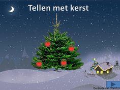 Digibordles: tellen met kerst    http://leermiddel.digischool.nl/po/leermiddel/07a321ef9a33160f65241527142faca8