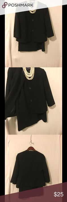 2pc Ladies Black Skirt Suit This beautiful black suit is simply timeless! Wearing it you could never go wrong! There are no tears, stains or smells. Evan Picone Other