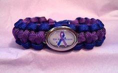 Custom Handmade RA Awareness Paracord Bracelet