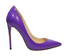 Guoar Women's Stiletto Big Size Shoes Pointed Toe Patent Ladies Solid Pumps for Work Place Dress Party purple US11... Dear Shoes lover,thank you so much for your support on Guoar. We sincerely hope you can be satisfied with our products and we can make a good relationship with each other and also witness our growth and progress together.Each pair of Guoar shoes are handmade totally.We are committed to creating......http://bit.ly/2wRh04l