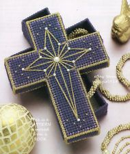 "Free Easter Plastic Canvas Patterns | CROSS SHAPED BOX""~Plastic Canvas PATTERN ONLY"