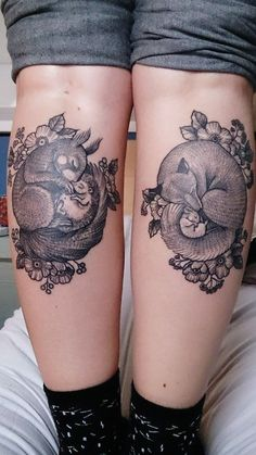 My calf tattoos, done by Susanne König at Salon Serpent in Amsterdam.