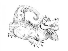 gator - by circuscookies Been trying to draw an alligator since I moved to Florida. This has been the one decent one out of maybe a million.