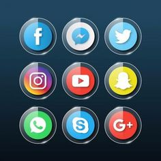 The 25 Best Free Beautiful Social Media Icon Packs In 2018 Social Png, Social Media Logos, Social Media Icons, Photoshop Images, No Photoshop, Samsung Galaxy Wallpaper, App Icon Design, Apps, Phone Icon