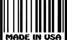 Made In The USA Barcode Die-Cut Decal Car Window Wall Bumper Phone Laptop